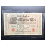 1910 GERMAN 1000 MARK NOTE  AU