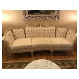 French Proventil tapestry couch