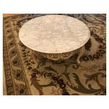 marble top French round coffee Table