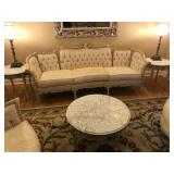 Marble top French matching lamp tables