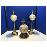 Three table decorative pieces
