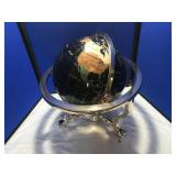 black marble world globe
