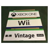 Wii, Xbox, Nintendo Foam Board Signs