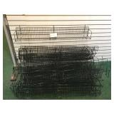 Lot of 25 Slat Board Wire Wall Baskets