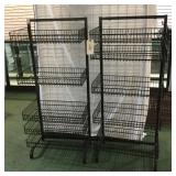 2 Black Wire Basket Racks