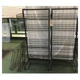 2 Black Wire Basket Racks w/ 2 Extra Baskets