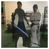 Luke and Anakin Skywalker Cardboard Stand ups.