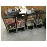 4 Large Northwestern Gumball Machines