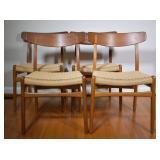 4 pcs. Hans J Wegner for Carl Hansen & Sons Chairs