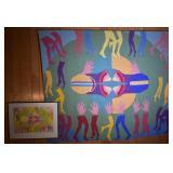 """Aase Vaslow Tapestry & India Ink """"Play Ground"""""""