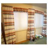 Vintage Mid-Century Southwest Curtains w/ Valances