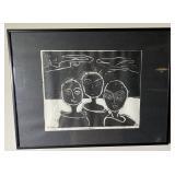 2006 Aase Vaselow Original Linoleum Block Print