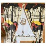 Mid-Century Tree Safari Curtains & Face Mobile