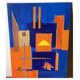 1977 Aase Vaslow Original Acrylic on Art Board
