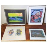 4 pcs. Original Art Collage, Watercolors & Photo