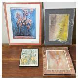 4 pcs. Original Art & Art Prints