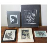 5 pcs. Original Art & Art Prints - Various Artists