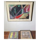 3 pcs. Original Art & Art Prints - Various Artists