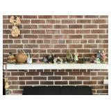 Contents of Fireplace Mantle - Hand Made Figures +