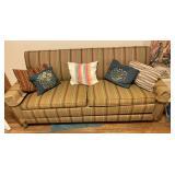 Vintage Sleeper Sofa & Throw Pillows