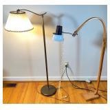 Artisan Created Floor Lamp & Vintage Floor Lamp