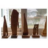 5 pcs. Original Fred Vaslow Wood Art Specimens