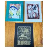 3 pcs. Aase Vaslow & Ellie Pomerance Prints
