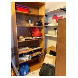 Bookshelf w/ Contents on & Around Shelf