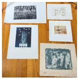 5 pcs. Original Aase Vaslow Etching Prints