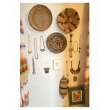 16 pcs. Native Beaded Jewelry & Woven Baskets