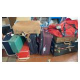 HUGE Luggage Lot & Vintage Camping Supplies