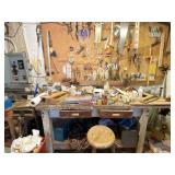 Workshop Bench / Table w/ ALL The Supplies & Tools