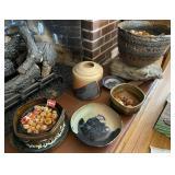 8 pcs. Art Pottery Bowls, Pots & More