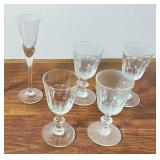 5 pcs. Vintage Crystal & Glassware
