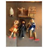 (5) Hand made vintage wooden novelties