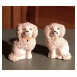 Early Pair of Staffordshire PV England Poodles