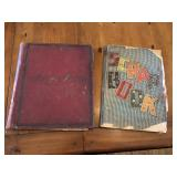 Pair of very early scrap books