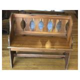 Solid Pine, lovers bench, perfect size