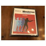 The minuteman stamp album w/ rare stamps