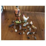 27 pcs vintage figurines