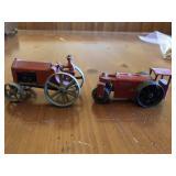 Pair of Pre-War Tootsietoy Tractors