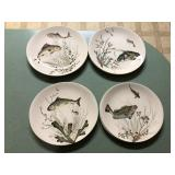 Vintage set of 8 Johnson Bros Fish plates