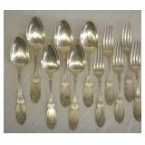 11 pcs. Sterling Silver Spoons & Forks