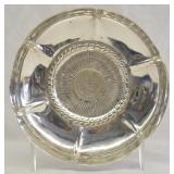 Peruvian Sterling Bowl w/ 1923 Coin Inlayed