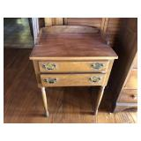 Walnut Ethan Allen two drawer side table