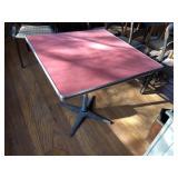 Vintage Diner metal table w/ red top