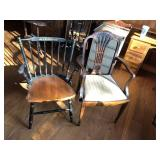 Pair of early Chairs, nice factory painted, & vict