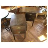 Pair of vintage solid Cherry drop leaf side tables