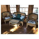 Remarkable 4pcs Wicker patio set