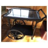 Vintage english tea cart w/butler top